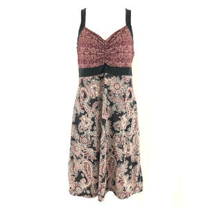 Prana Dress A Line Floral Paisley Sleeveless